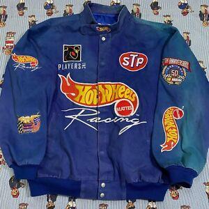 VTG 90s Jeff Hamilton NASCAR Kyle Petty #44 Hot Wheels Racing Jacket Adult XL