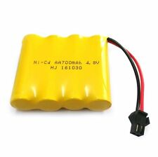 4.8V 700mAh Ni-Cd AA Battery Packs SM 2P Plug for Toys, Lighting, Electric Tools