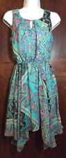 Delirious size small sleeveless polyester summer dress with handkerchief hem