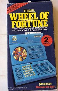 Vintage 1988 Wheel of Fortune Travel Game 2nd Ed Pressman Games 2 Go Used V Good
