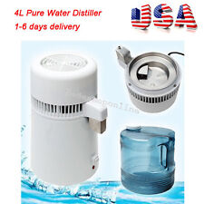 US STOCK Pure Water Distiller Water Distilled Filter Internal Stainless Steel 4L