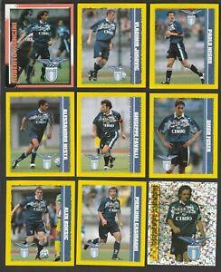 SET COMPLETO 9 FIGURINE CALCIATORI MERLIN KICK OFF 1997-98 LAZIO