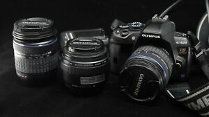OLYMPUS EVOLT E-620 Camera +3.5-5.6/14-42mm + 4-5.6/40-150mm + 3.5/35mm Lens kit