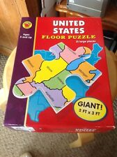Used Brighter Child United States Floor Puzzle, 2 Ft X 3 Ft, 51 Pieces