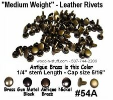 50 sets Quality! NICKEL  #54 Medium Weight RIVETS for LEATHER Cases Belts