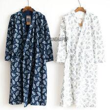 Men Kimono Yukata  Pajamas Cotton Soft Japanese Bathrobe Robe Gown Nightwear New