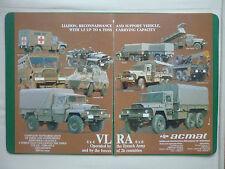 PUB ALM ACMAT SAINT NAZAIRE CAMION TRUCK VLRA 6X6 / DAUPHIN 2 HOT / DTCN AD
