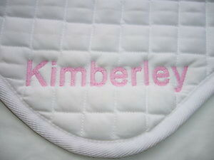 Personalised Saddle Cloth Embroidered on both side