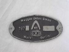 Imperio original tren escudo RDA 1970er vagón Unión GmbH obra Berlín DWM