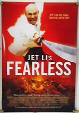 JET LI'S FEARLESS DS ROLLED ORIG 1SH MOVIE POSTER MARTIAL ARTS (2006)