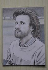 DR WHO 11TH DOCTOR (MATT SMITH) (BEARD & CHAINED) SKETCH CARD BY Wu Wei