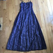 Fairweather Purple Black Strappy Prom Dress Formal Size 2