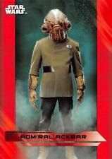 Star Wars Last Jedi Series 1 (2017) RED PARALLEL BASE Trading Card #13 / R2-D2