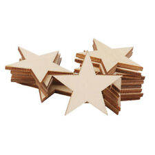 25 Pcs Natural Unfinished Blank Wood Wooden Stars Star Low Crafts Decor Pri H9S3