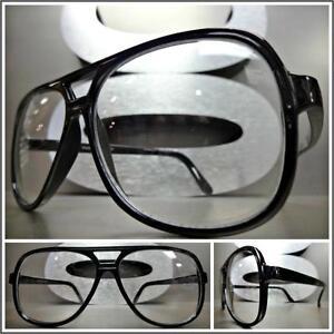 Len Geek Nerd Glasses Lunette Miroir Optiques Verre Ordinaire Cadre Plain Glass