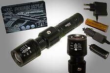 Taschenlampe Swat Cree Led T6 mit 5000 Lumen 6800mAh Power Akkus+Adapter