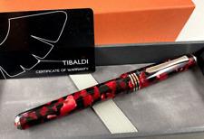 TIBALDI N60 RUBY RED FOUNTAIN PEN .