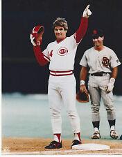 "Cincinnati Reds Pete Rose 8 x 10 ""Hit King"" Color Photograph"