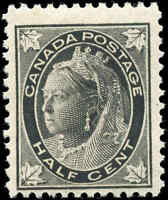 1897 Mint Canada Scott #66 1/2c Maple Leaf Issue Stamp Never Hinged