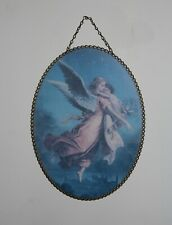 "Vintage Gallery Graphics Chimney Flue Cover Flying Angel w/ Child 8 X 11"" Oval"
