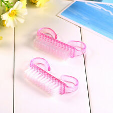 2PCS Nail Tool Art Care Manicure Pedicure Soft Remove Dust Cleaner Nails Brush