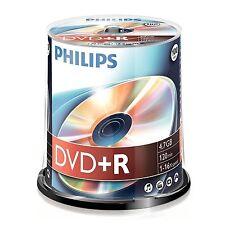 PAQUET DE 100 PHILIPS 16 x VITESSE DVD+R DISCS 4,7 GO MARCHAND GB