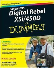 Canon EOS Digital Rebel XSi/450D for Dummies® by Julie Adair King (2008, Paperb…