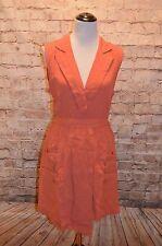 Modcloth Talk Workshop Shirt Dress NWT Terra Cotta L MINKPINK wrap-look  $100