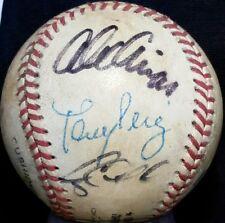 1995 FLORIDA MARLINS TEAM Signed ONL Baseball HOF TONY PEREZ vtg auto 90s