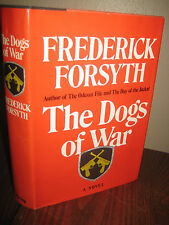 1st Edition THE DOGS OF WAR Frederick Forsyth FIRST PRINTING Spy Espionage