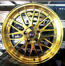 18x8 5x112 STR 601  GOLD W/ BLACK made for MERCEDES AUDI VOLKSWAGON