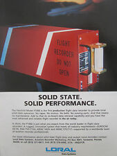 6/1992 PUB LORAL DATA SYSTEMS FAIRCHILD MODEL F1000 FLIGHT RECORDER ORIGINAL AD