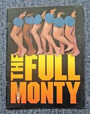"ORIG. 2000 ""THE FULL MONTY"" SOUVENIR THEATRE PROGRAM w/ CAST INSERT"