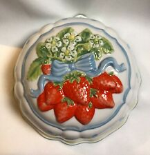 Vntg Franklin Mint Cordon Bleu 1986 Strawberry Jello Mold Wall Hanging