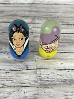 Disney Kelloggs Lot Beanz Weebles Wobble Bean Snow White And Dopey