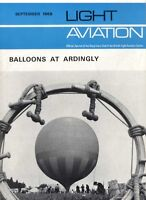 LIGHT AVIATION MAGAZINE 1968 SEP BALLOONS AT ARDINGLY, HELICOPTER TROPHER