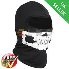 UK Black Balaclava Mask Under Helmet Winter Warm Army Style Neck Warmer Skull