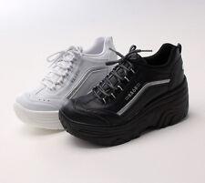 Platforms Sneakers High Heel Cheerleaders Shoes Canvas Wedge Cheer Leader Boots