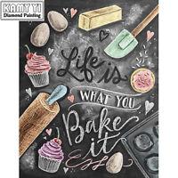 "NEW 5D DIY Diamond Painting ""Kitchen cake"" 3D Embroidery set Cross Stitch Mosaic"