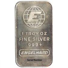 1 oz .999 Engelhard Silver Bar
