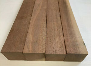 "4 Pack Set, Black Walnut Lumber Board, Turning Wood 1.5"" x 16"" FREE SHIP"