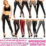Pantaloni in Pelle Donna Skinny Slim Fit Aderenti Elasticizzati Push-Up Fashion