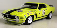 Welly 1/18 SCALA 1970 Ford Mustang Boss 302 George Follmer Auto Modello Diecast