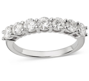 1.50 Ct  Round Cut Moissanite Sterling Silver Women  Wedding Eternity Band