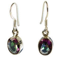 Mystic Topaz & Sterling Silver Earrings