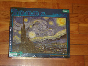 New Sealed The Starry Night Vincent van Gogh 2000 pc Puzzle 38 x 26 inches