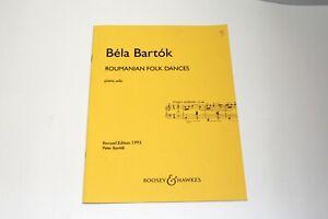 Vintage Sheet Music Bela Bartok Roumanian Folk Dances Piano Solo Boosey & Hawkes