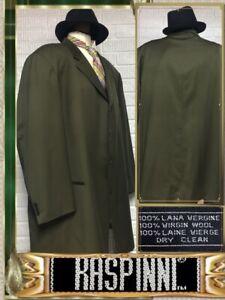 $298 Raspinni NEW 56L BIG & TALL 100% Wool Army Green Blazer Sport Coat 722132
