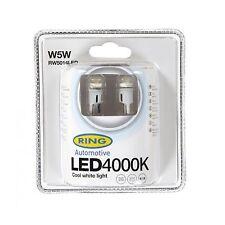 2x Ring W5W (501) 12v 4000K Cool white LED Light Bulbs - RW5014LED