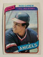 1980 Rod Carew # 700 California Angels Topps Baseball Card HOF